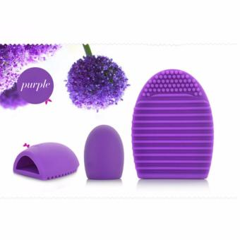 ANGEL - Brush Egg Cleaning Brush Tool Beauty Makeup Tools - Purple