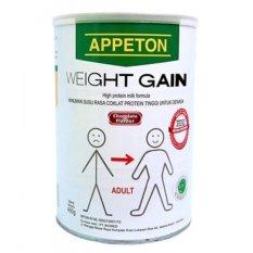 Appeton Weight Gain Adult Coklat - 450 gr, susu tinggi protein rasa coklat, susu penambah berat badan