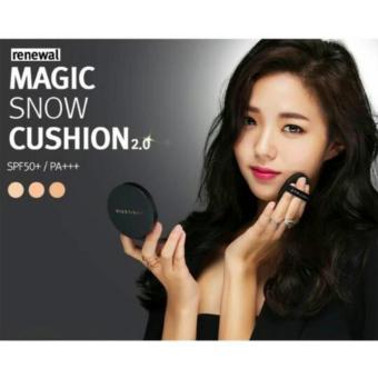 April Skin Magic Snow Cushion Black 2.0 Mochi RENEWAL / BedakCushion Make Up Ala Korea Original- 23 Natural Beige
