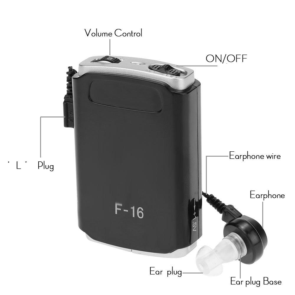 ... AXON F-16 saku Mini alat bantu dengar dalam telinga tuli bantuan penguat suara dengan ...