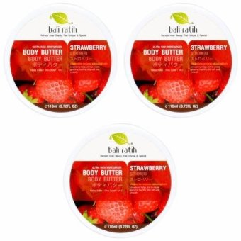 Bali Ratih - Paket Body Butter 110mL 3pcs - Strawberry