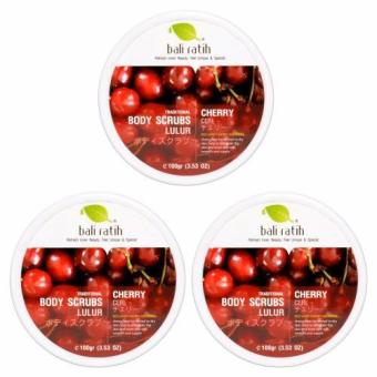 Bali Ratih - Paket Body Scrub 110mL 3pcs - Cherry