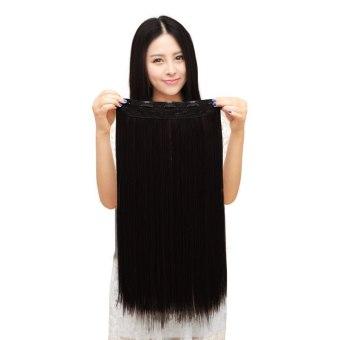 Harga Bergelombang/Keriting Panjang Rambut Lurus Alami Wanita PestaCosplay Wanita Fashion Wig Hitam Murah