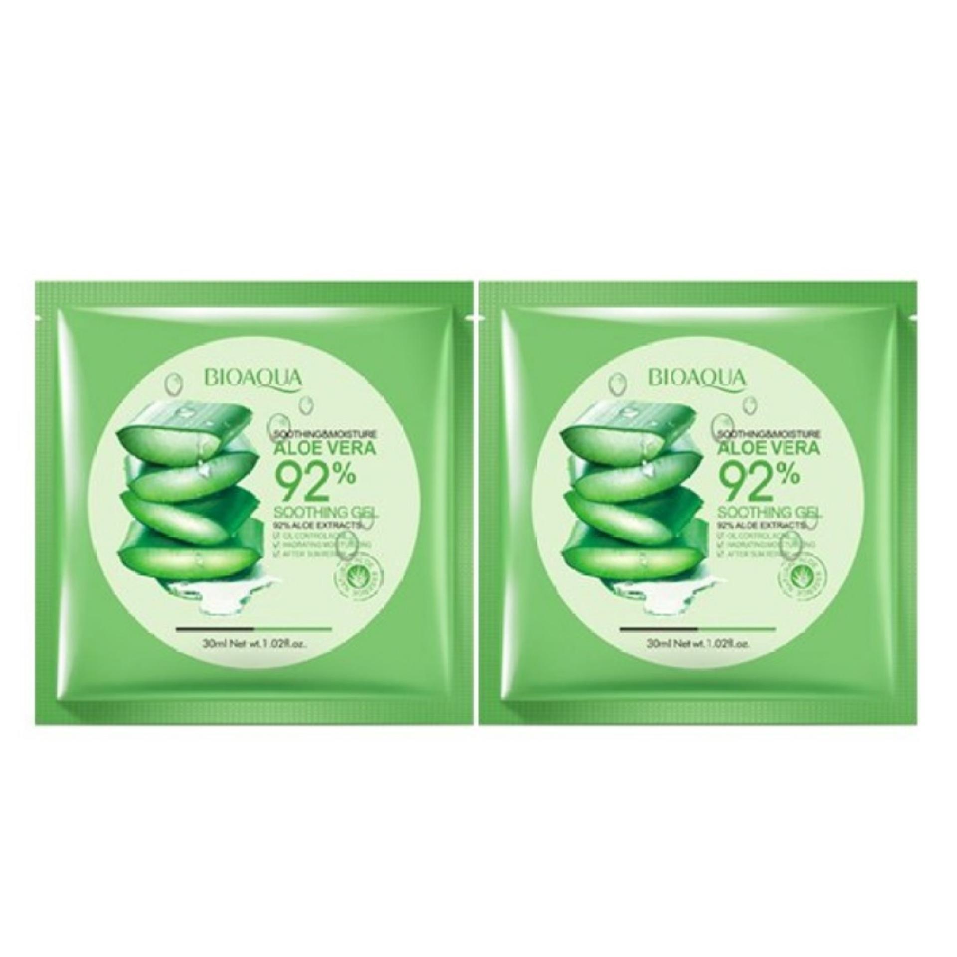Bandingkan Simpan Bioaqua Aloe Vera Gel Mask 30g 2 Pcs Penawaran Bagus Original