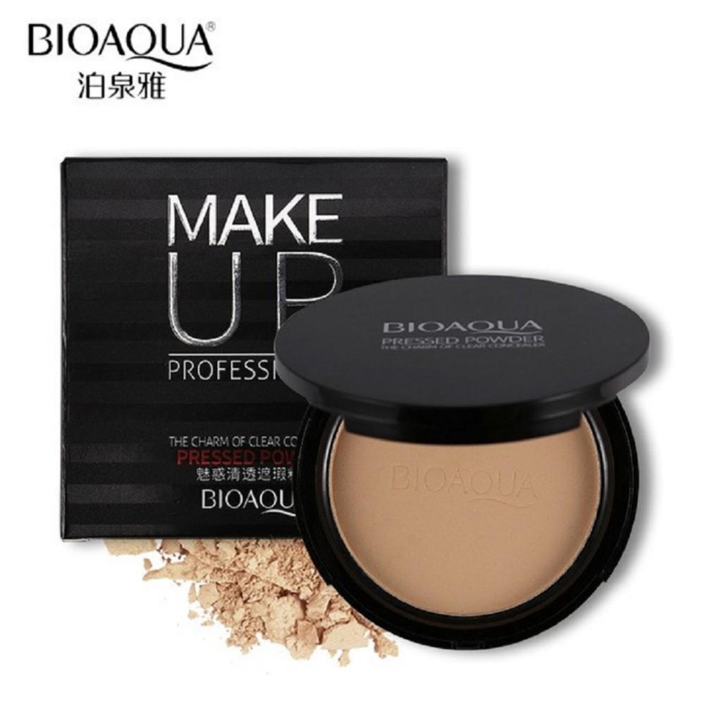 BIOAQUA Make Up Professional Pressed Powder Foundation Bedak Padat-Natural