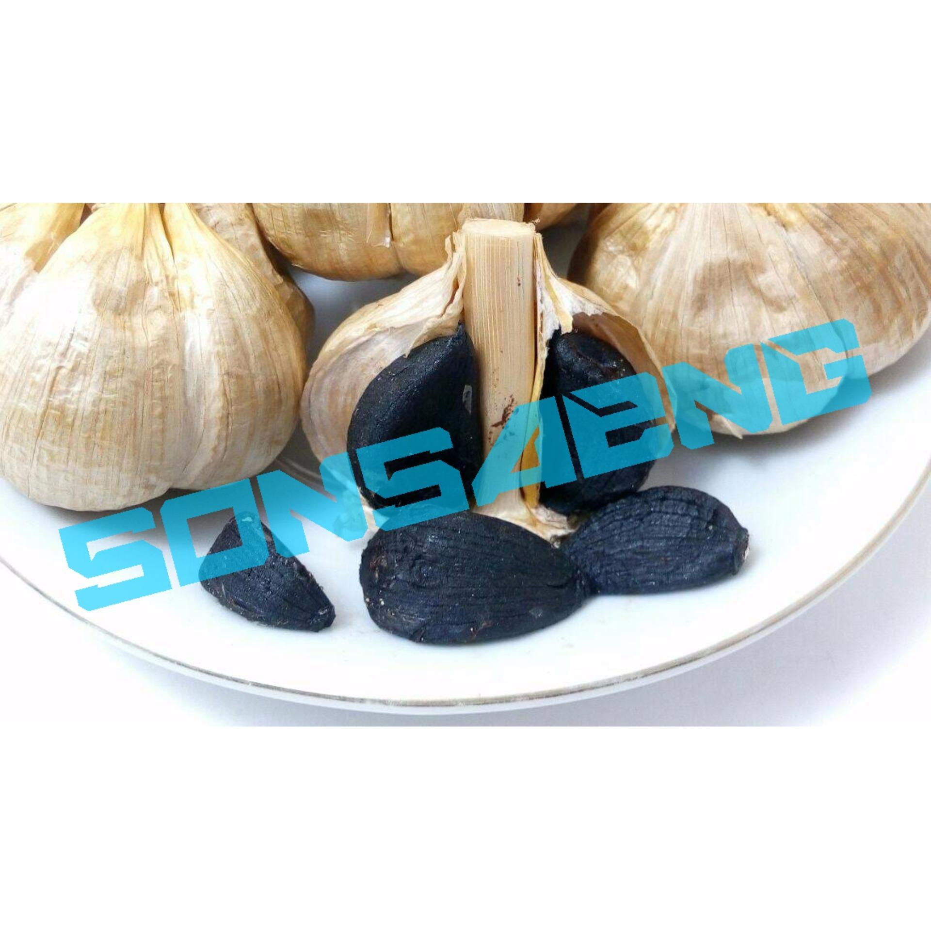 Solo Black Garlic Bawang Hitam Tunggal Lanang 1 Kg Dayak Segar Setengah Kilo Organic Non Alcoholic Sonsaeng