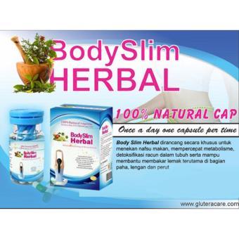 Body Slim Herbal Capsul New Pack Pelangsing dan Penurun Berat Badan Alami -