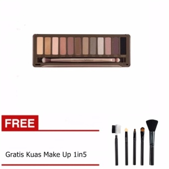 Bos Online N2 Pallete Eyeshadow Gratis Kuas Make up 5in1 1 Set