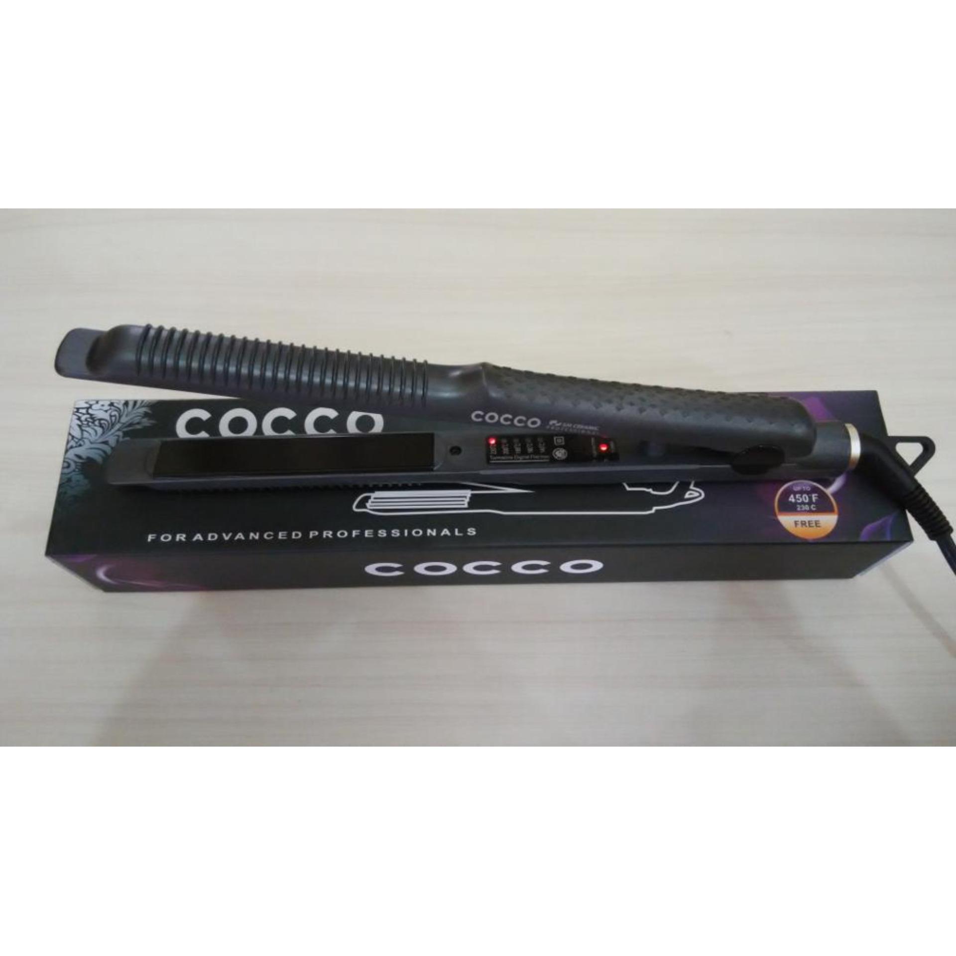 ... CATOK COCCO / TECHNO 2in1 Catok Rambut Lurus Ikal Keriting Hair Straightener & Curly Catokan ...