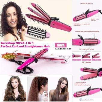 Harga Catok Nova Curly & Straightener Stick 3 in 1 NHC 8890 – Set Catok Pelurus Pengeriting Rambut Murah – Alat Kecantikan Rambut Tanpa Ke Salon – Catok Rambut Murah Murah