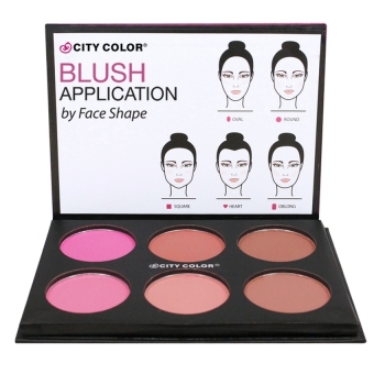 City Color Glow Pro Blush Matte Palette (blush on palette)