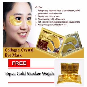 Collagen Crystal Eye Mask / Masker Mata - 10pcs + Free Masker Gold/ Masker Wajah - 10 Pcs ...