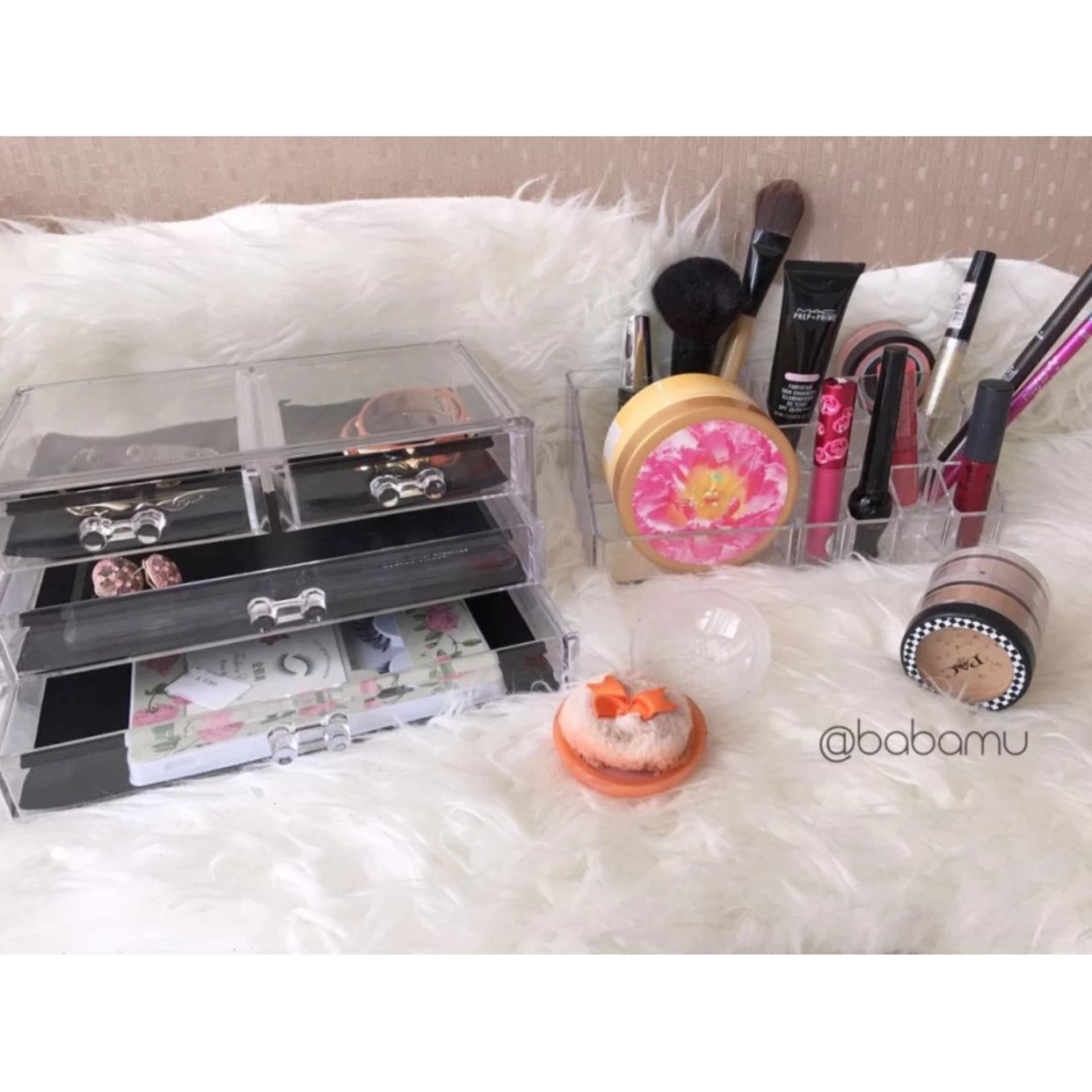 Babamu Storage Box Cosmetic Daftar Harga Terbaru dan Terlengkap Source · Cosmetic Organizer Drawers With Mirror Tempat Kosmetik DenganKaca Babam