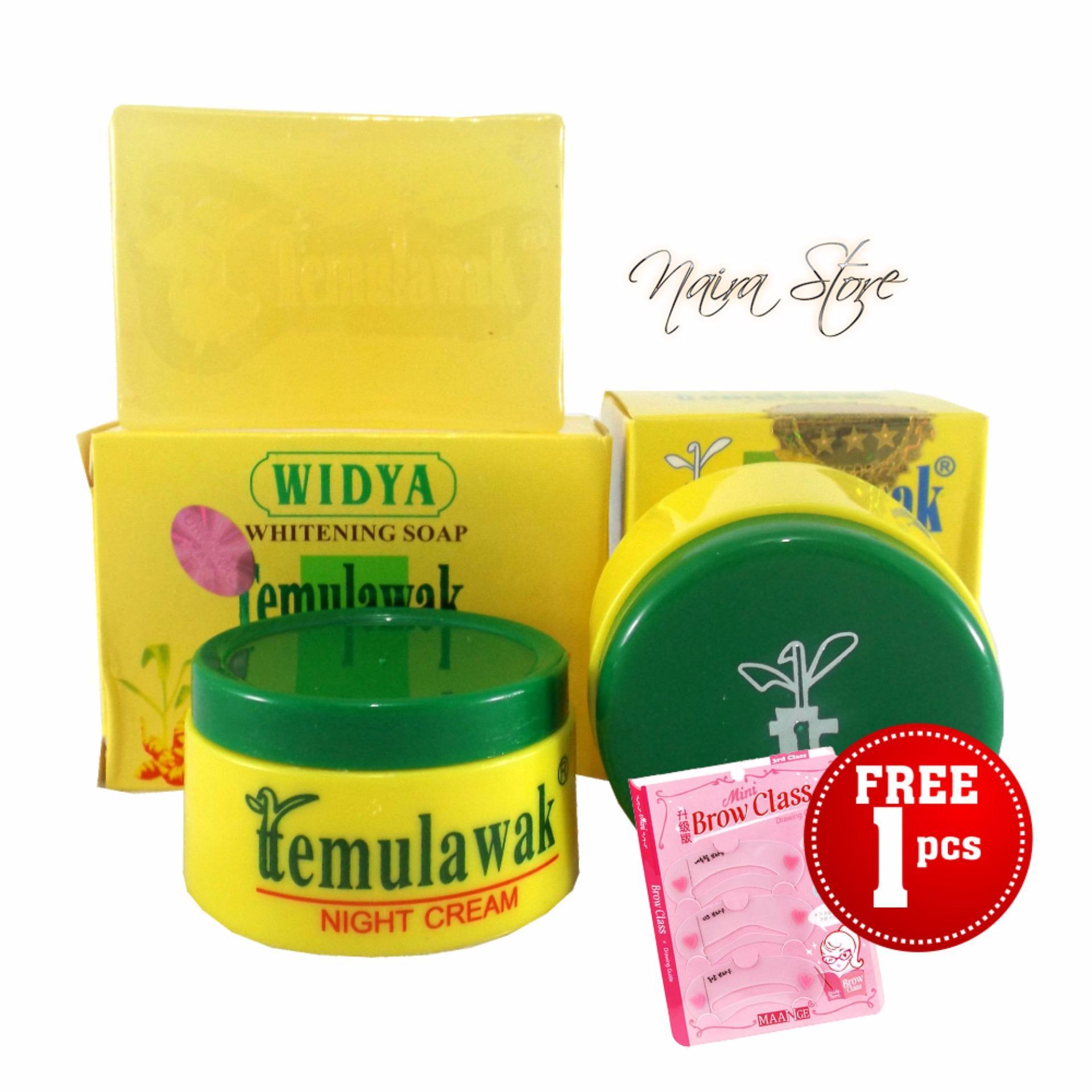 Cari Bandingkan Cream Temulawak Original Holo Super 1 Paket Free Bedak Cetakan Alis Mini Brow Class