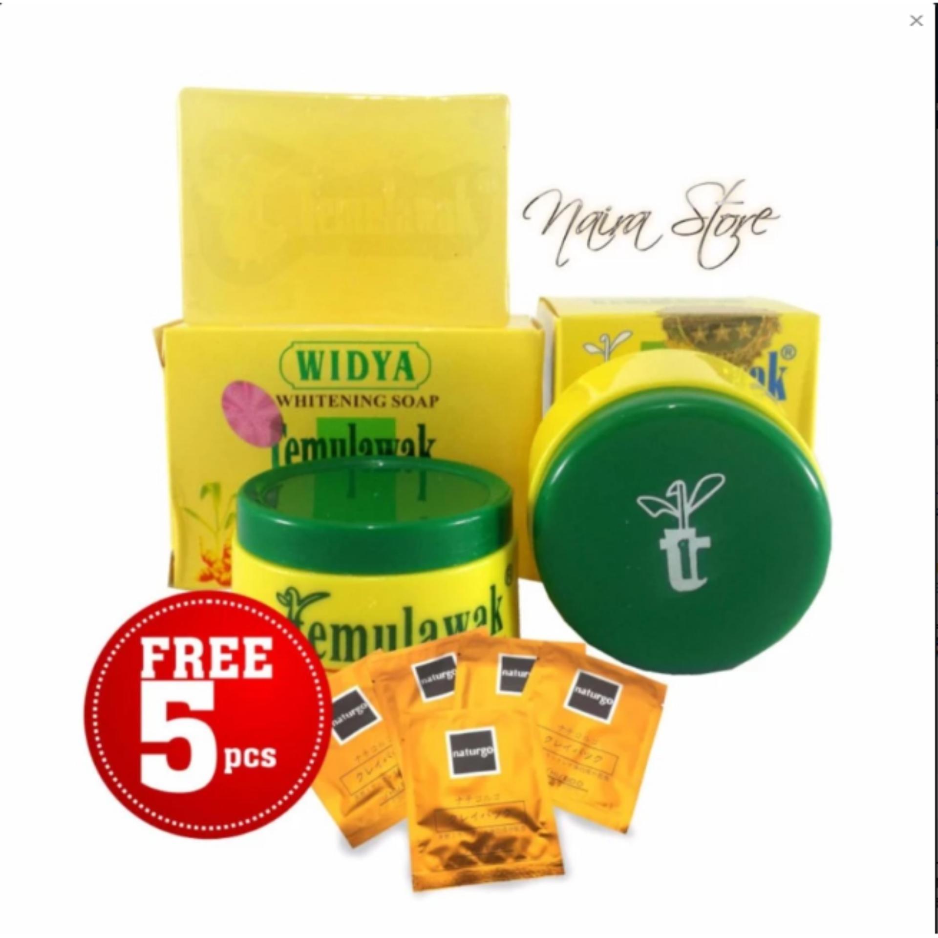 Cream Temulawak Original Holo Super Asli Malaysia - 1 Paket Free 5 Masker Lumpur Naturgo