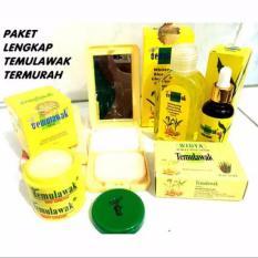 Cream Temulawak Original Holo Super - Paket Super Komplit ( Cream The Face, Sabun, Toner, Serum dan Bedak )