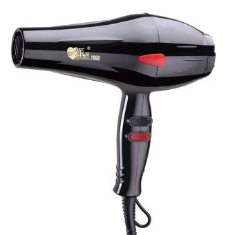 Harga [daily specials] hair dryer, home 2000W mute hairdryer, high power cold hot air, dormitory hair dryer – 1998 black – intl Murah