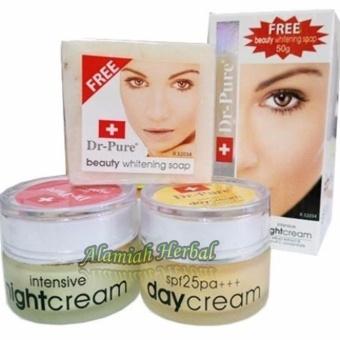 Dr Pure Paket Cream Whitening Original BPOM + sabun Whithening