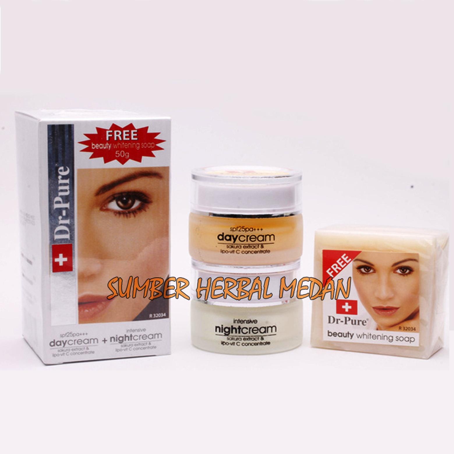 Dr Pure Paket Whitening Cream Plus Sabun Dr.Pure Original - 3 Item ...