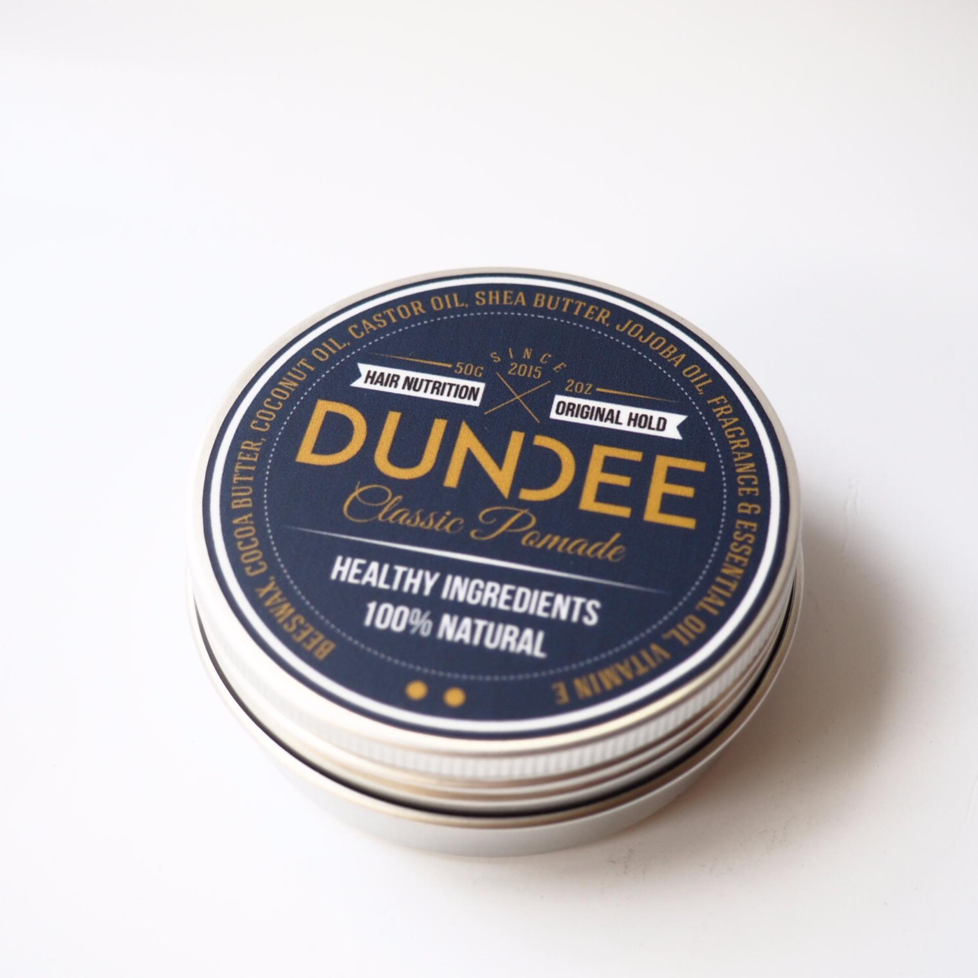 BELI..! DUNDEE Classic Pomade – Original Hold – 50g  100% Natural dan Organik  Sehat untuk rambut  Mencegah kerontokan Terlaris