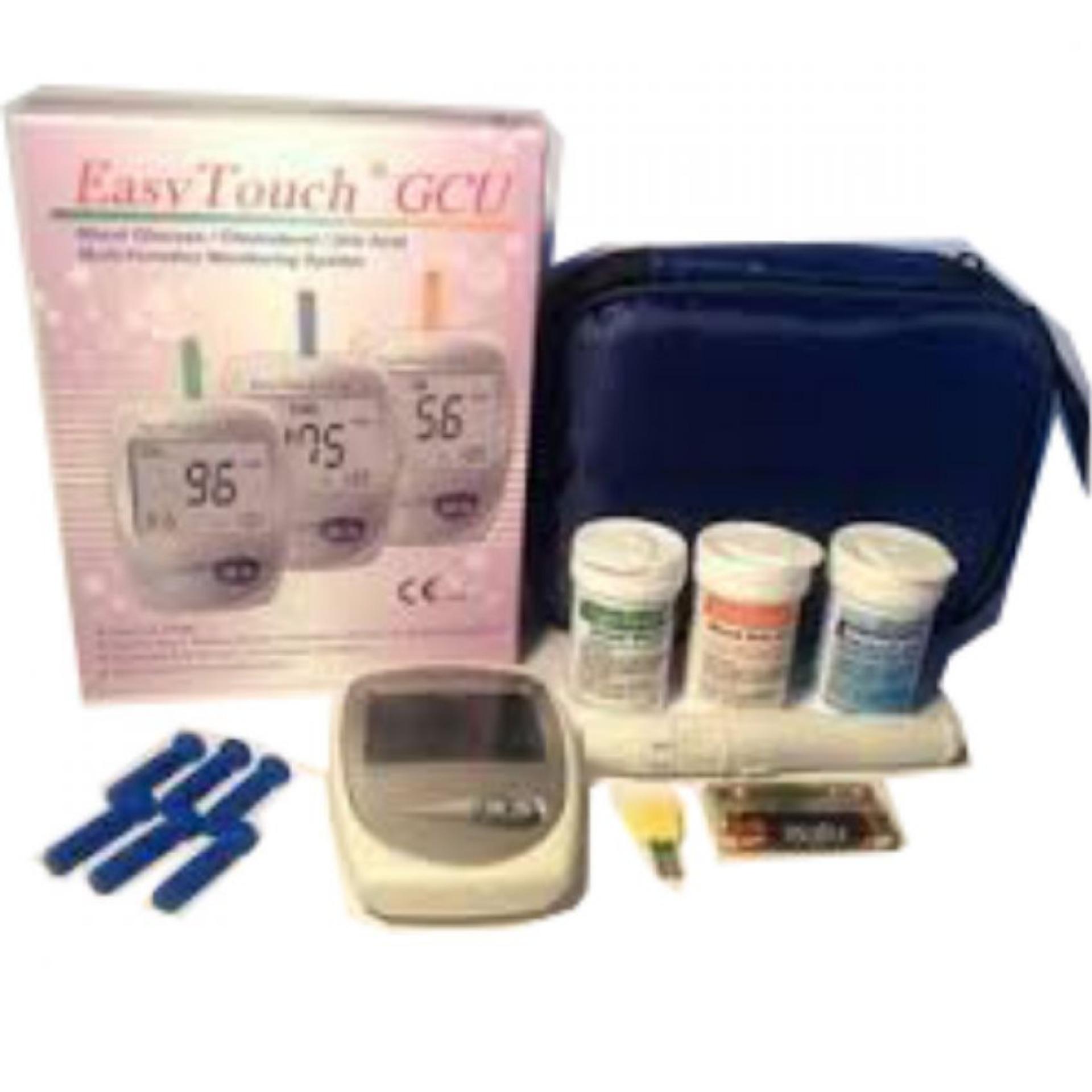 Eshop Checker Easy Touch Gcu Alat Cek Darah 3 In 1 Kolesterol Test Gula Asam Urat Cholesterol 3in1 Dangula