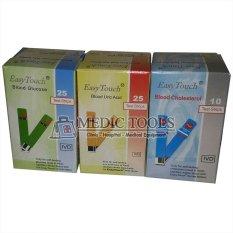 Easy Touch Paket Strip Isi Ulang - Gula, As Urat, Kolesterol