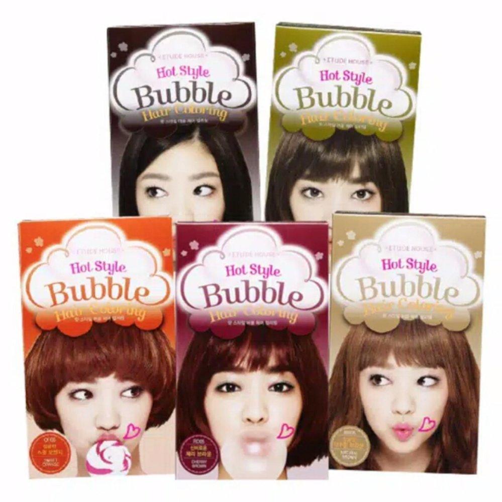 Harga Penawaran Etude House Hot Style Bubble Hair Coloring Cat Sisir Semir Rambut Pewarna Gr07 Khaki Brown
