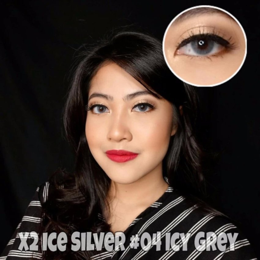 eShop Checker Gel Ice Cream Softlens Violet Gratis Lenscase Source · Exoticon X2 Ice Silver Softlens
