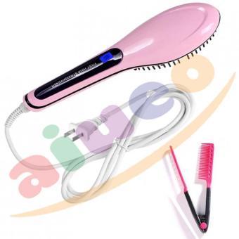Harga Fast Hair Straightener Catok Sisir Pelurus Rambut HQT-906 – Pink Bundling Sisir Ion Pelurus Rambut Alami 1 Pcs Murah
