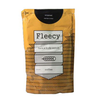 Fleecy Face & Body Scrub Original New Pack - Coffee