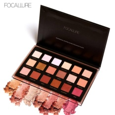 FOCALLURE 18 Colors Palette Shimmer Matte Pigment Eye Shadow Cosmetics Mineral Nude Glitter Eye Nude Makeup Beauty Color 02 - intl