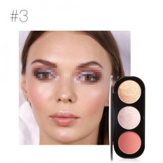 FOCALLURE Blush Highlighter Bronzer Palette Contour Face Makeup Powder #3 - intl