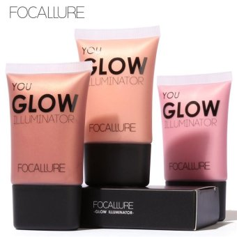 FOCALLURE Face Gold Highlighter Makeup Liquid Glow Illuminator Face Contour Brightener Glow Shimmer Liquid Highlighter Make