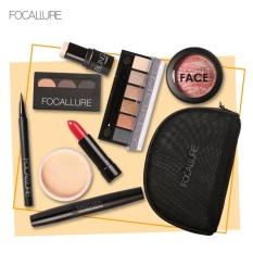 Focallure Makeup Gift Set Lipstik Eyeliner Mascara Blush eyeshadow Kosmetik dengan Tas-Intl