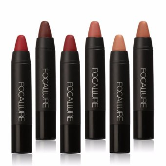 FOCALLURE Pro Matte Waterproof Lipstick with Long Lasting EffectPowdery Matte Soft Pencil Lipstick Set - intl