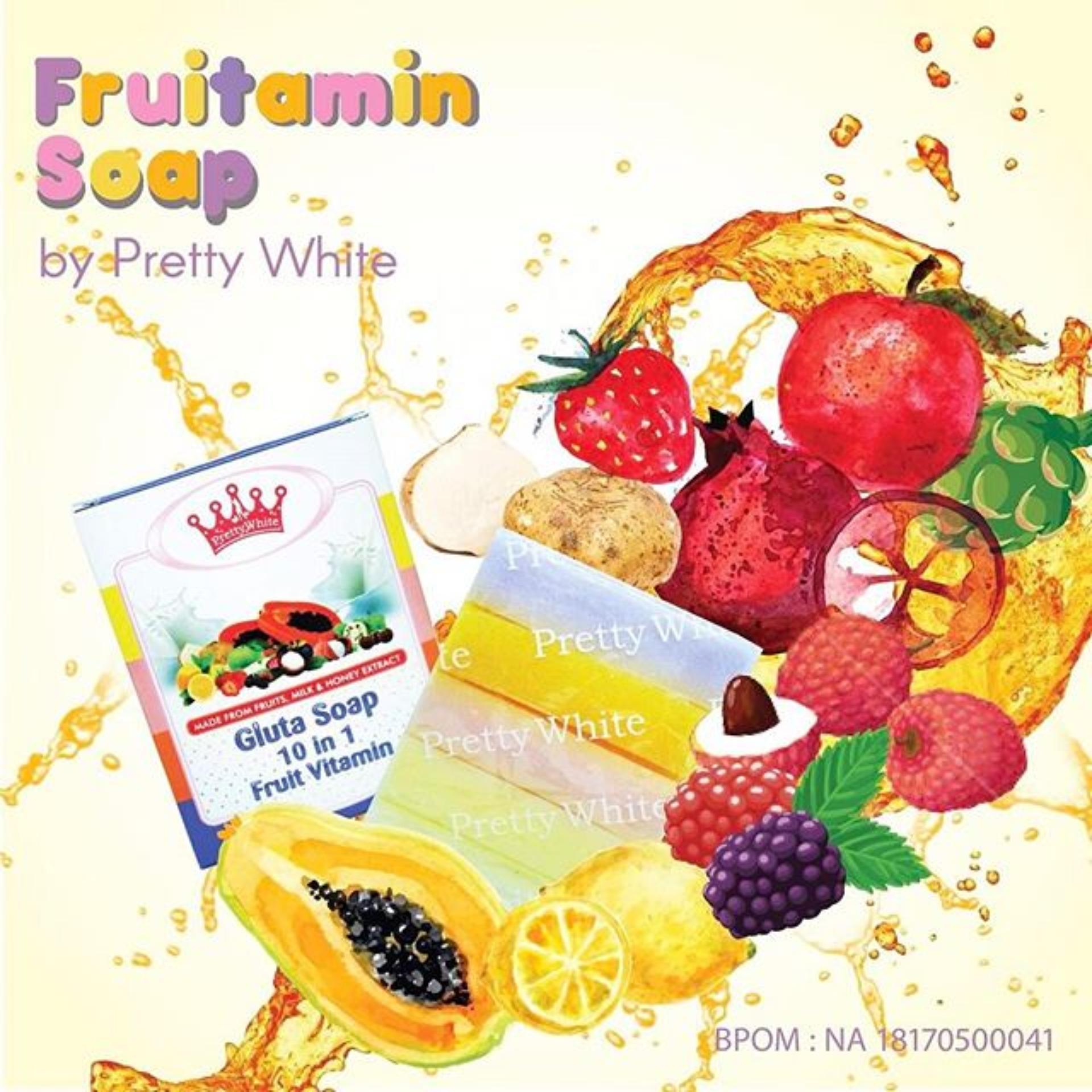 Harga Termurah Fruitamin Soap Bpom Sabun Pemutih Badan Dan Wajah 10 In 1 Frutamin