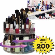 Glam Caddy rotating cosmetic organizer - Cosmetics Organizer - Rak Kosmetik Putar 360 - Transparant - Babamu