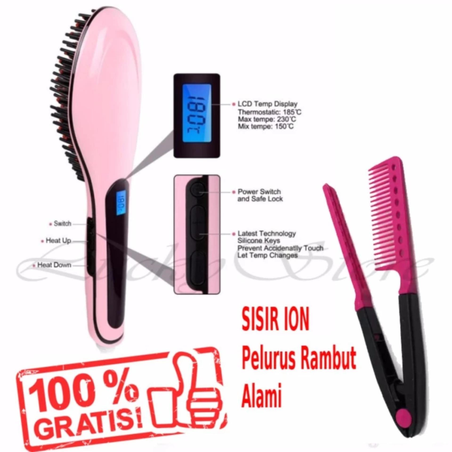 Belanja Terbaik Glow Shop Fast Hair Catok Sisir Pelurus Rambut Hqt Magic 906 Gratis Ion