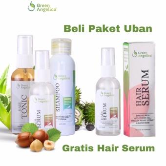 Harga Green Angelia Paket Uban Penghitam Rambut Uban Alami – Isi 3 Produk Murah