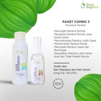 Harga Green Angelica Paket Combo 3 obat penumbuh rambut rontok, obat rambut botak BPOM Murah