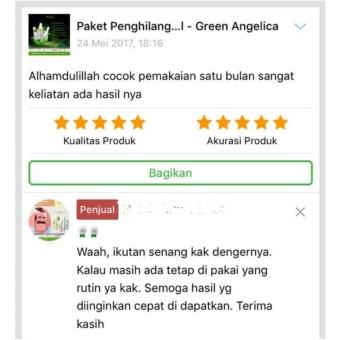 Green Angelica Paket Obat Uban alami, obat penghitam rambut uban permanen