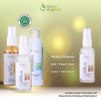 Harga Green Angelica Penghitam Rambut Alami Tanpa Efek Samping BPOM – Paket Uban Isi 3 Produk ( Shampo, Serum, Obat Uban ) Murah