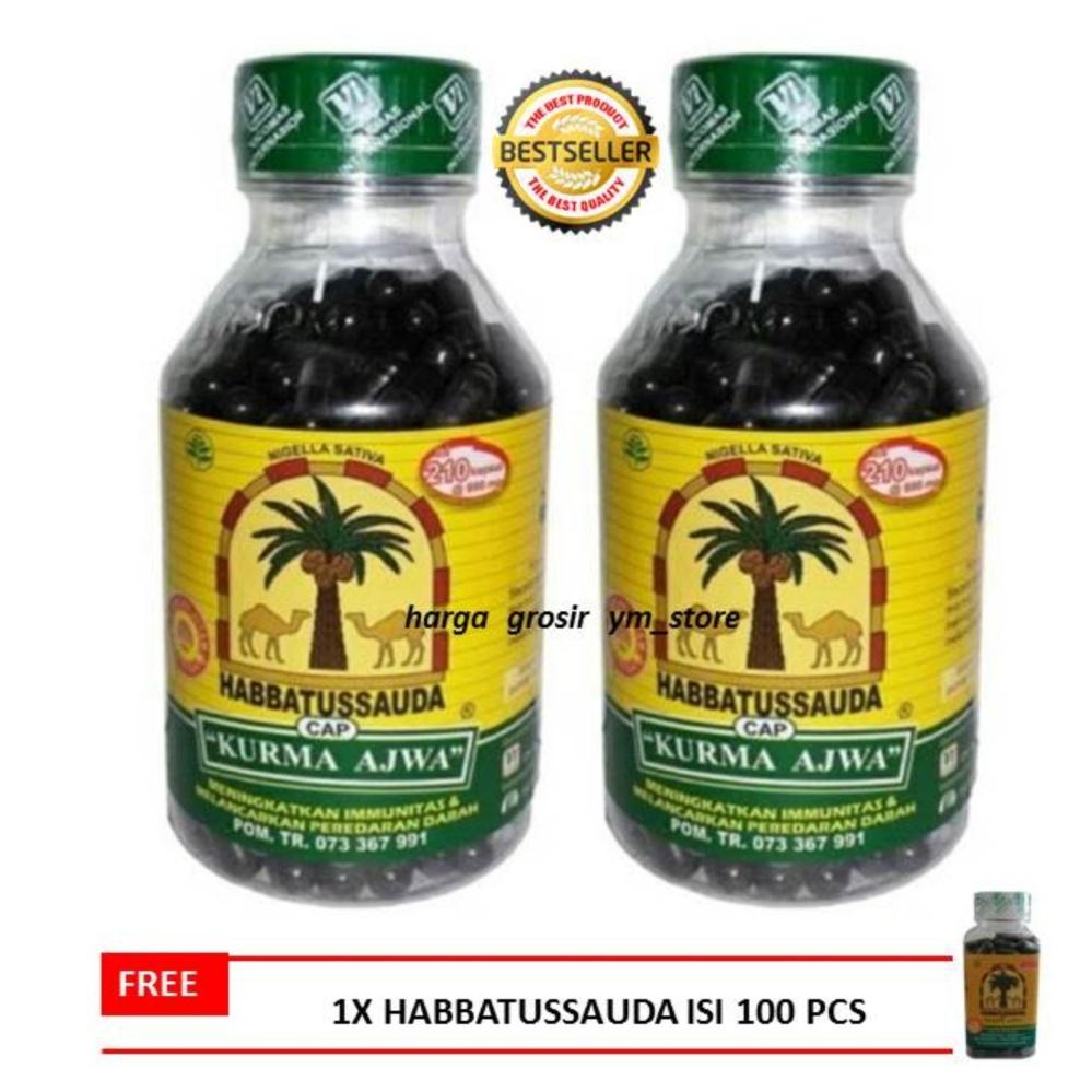 Hot Deals Habbatussauda Cap Kurma Ajwa Isi 210 Kapsul 2 Pcs Cari Habbasyi Oil Minyak Flash Sale