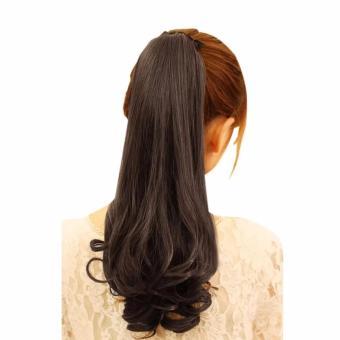 Harga Hair Clip Ponytail Curly Panjang Ikat Tali Wig Ponytail RambutPalsu Murah