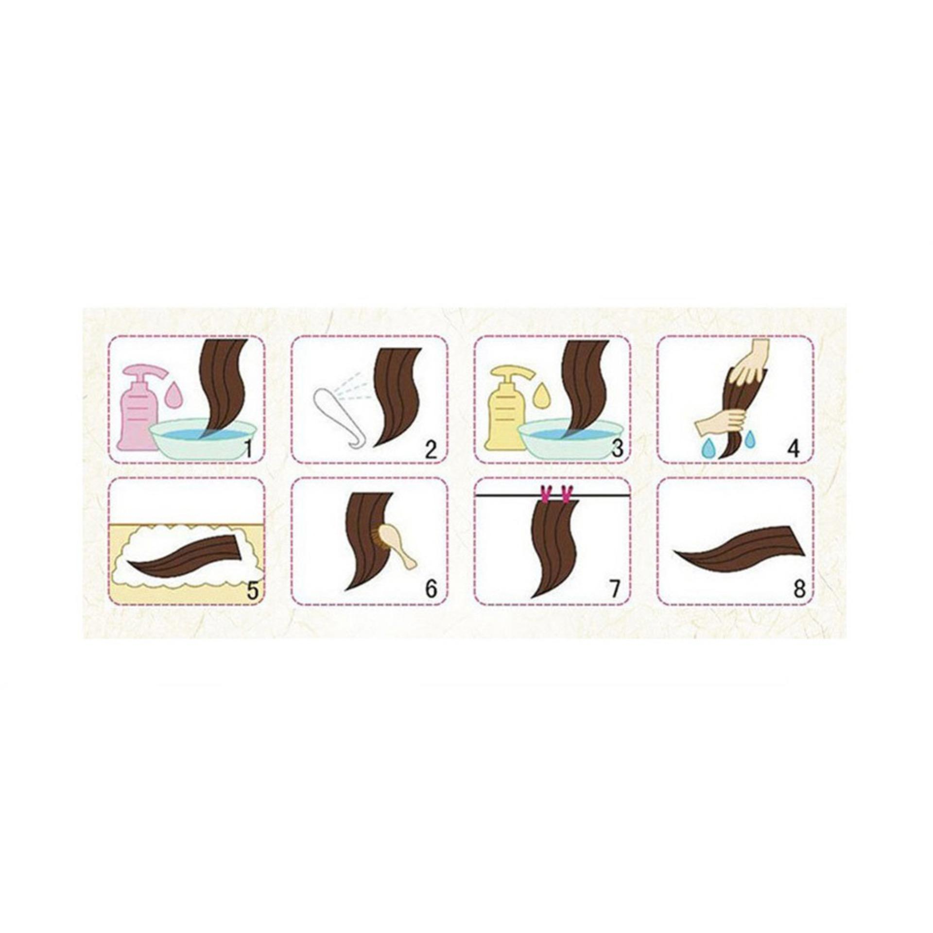 Hair Extension Perpanjangan Rambut 1 Untai 40 cm straight lurus 99J ...