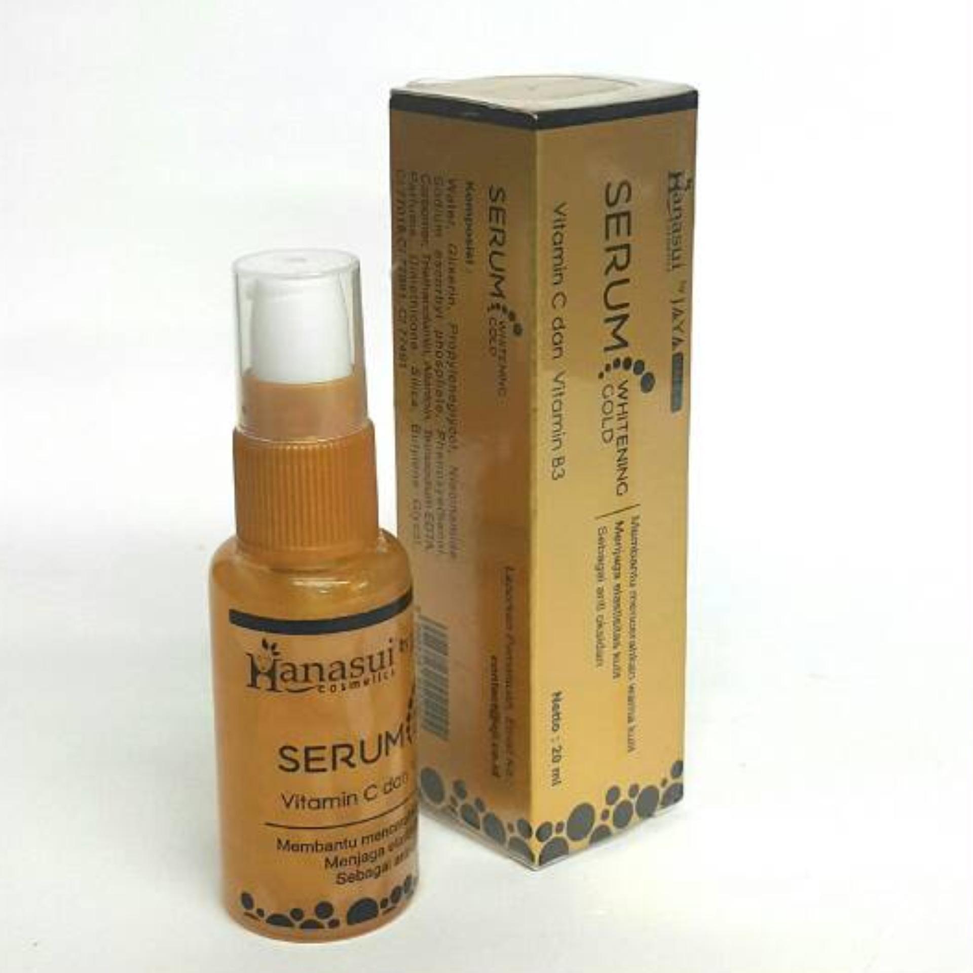 Hanasui Jaya Mandiri Bpom Paket Hemat Whitening Serum Gold Anti Acne Wajah Original