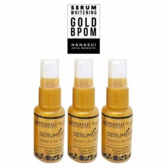 Hanasui Whitening Serum Gold Face Whitening - Pemutih Wajah - 3Buah