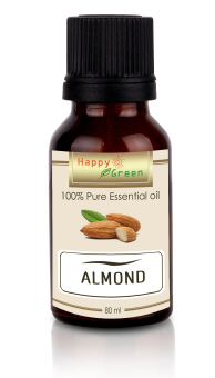 Happy Green Almond Oil Cosmetic Grade - 80 ml - Minyak Almond