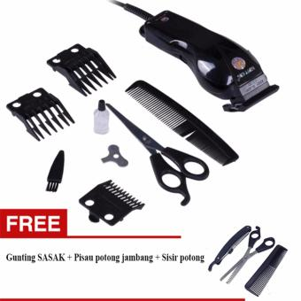 Happy King HK-900 Professional Hair Clipper Trimmer Mesin Alat Cukur-GRATIS  Gunting set bf82f0c8ae