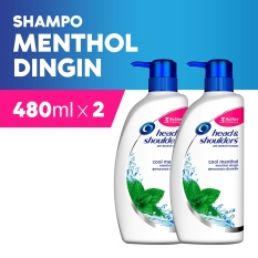 Head & Shoulders Shampoo Cool Menthol 480 ml - Paket Isi 2